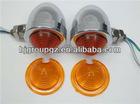 Universal Bullet TURN SIGNAL LIGHT W/ Amber Lens for Har ley Bobber Custom