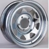 8 spoke chromed triangle wheel rim for trailers