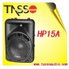 powered loudspeaker, plastic speaker, professional loudspeaker, pa system