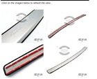 Stainless Steel Rear Bumper Cover Protector For Toyota Camry 07 08 09 10 11