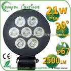 21W led work lamp led auto lamp