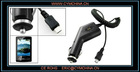 Black Car Charger Adapter w Coil Cord for Sony Ericsson X10 Mini