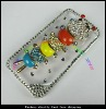 2012new fashion transparent clear with crystal diamond case for iphone 4S