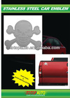2012 high quality stainless steel car bull badges auto 3D emblem
