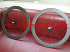 700C carbon clincher 60mm fixed gear wheels