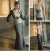 3326-1hs Off-shoulder with Jacket Sexy Fascinating Floor-length grey taffeta with Rhinestone 2012 new style evening dress