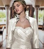 2011 white prestigious Long sleeve Satin wedding jacket JK060