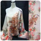 peacock digital print silk scarves 2012