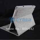 PU Leather Cover Case For iPad 3rd With Stand
