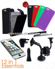12 items Cases Earphone Accessories bundle for Apple iPhone 5