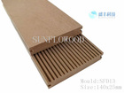 Plastic Wood Deck Floor / Solid WPC deck flooring/ decking floor/