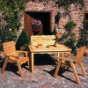 wood patio furniture WG-4S-8075