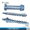 Rubber machine screw barrel for extruder