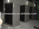 granite columbarium with square niches