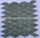Rhombus Green Granite Flooring Mosaic Tile Sheet