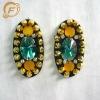 colourful jewel studs garment oval shape embellishment appliques
