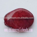 spray lacquer bead, oval jewelry painted jelly beads, painted jelly beads, acrylic beads