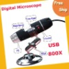 Free shipping Digital Microscope---high quality 800X 2.0 MP black USB Digital Microscope