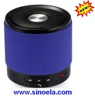 Sinoela Metallic and portable wireless Bluetooth speaker with built-in 520mAh Li-ion battery