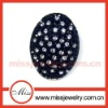 Oval shaped elegant diamond brooch