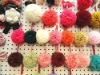 wholesale soft chiffon flower ball key chain /adornment /assessories