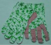 PVC dotted C/T garden gloves
