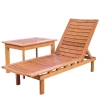 bamboo leisure reclining chair&tea table