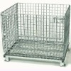 Folding wire mesh cage/pallet container