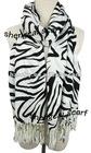 Fashion animal zebra and leopard pashmina shawl