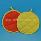Pure Color Waffle Cooking Round Pot Holder Set