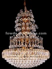 FOWDA Luxury crystal pendant lamp