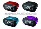 LCD display alarm clock with AM/FM Radio red