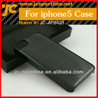 High Quality Carbon Fiber Case For Iphone 5 With Plain Weaven