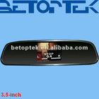 3.5 inch car rear view mirror monitor, clip on original mirror (BTM-3500)