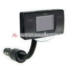 """1.5"""" LCD MP3 Player FM Transmitter + Bluetooth Hands-Free with Steering Wheel Mount Control"""