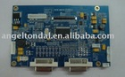 with double DVI interface wide temperature AD Board for Industrial Military LCD Monitor