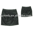 Black flash mini-skirt