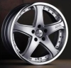 Casted two-piece alloy wheel for cars