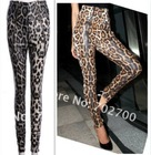 sexy tight leopard women high waisted pants
