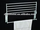 wall mounted stainless steel bathroom double swivel towel rack with metal towel bar