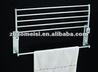 wall mounted stainless steel bathroom double swivel towel rack with metal towel bar