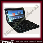 Support Multilanguage Leather keyboard case for 10 inch Tablet pc