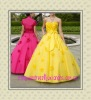 2012 hot yellow Beading Ball Gown Designer Prom Dress
