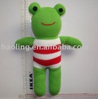 hand knit toy-frog