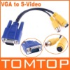 VGA to TV S-Video / RCA OUT Converter Cable Adapter