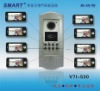 8 apartments video door phone intercom system with ID card reader