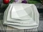 beautiful design porcelain square plate
