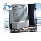 AQSC1601CL aluminium sliding bath glass shower screen price
