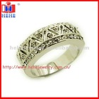 fashion band ring designs with crystal