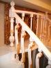 bamboo stair railings, railing, handrail of staircase,
